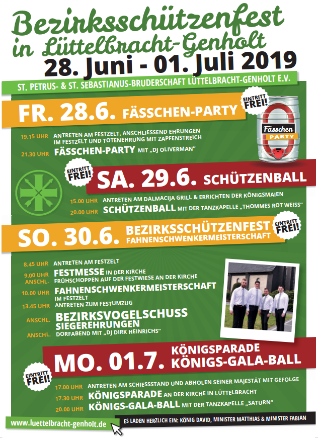 Programm Bezirksschützenfest 2019